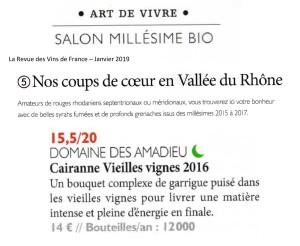 La Revue des Vins de France 01.2019