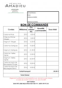 Ma commande pdf domaine des amadieu - Bon prix suivi de ma commande ...